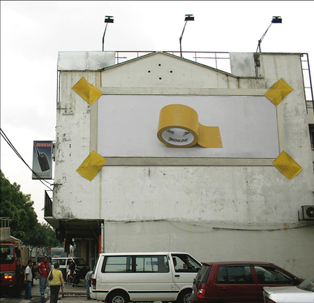 tape billboard ad advertisement