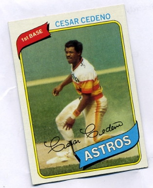 cesar cedeno 1980 baseball card houston astros