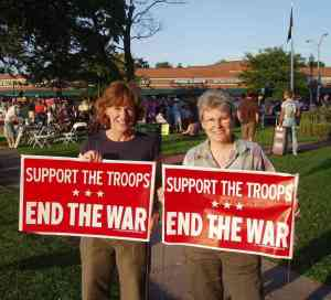 women protesting war iraq