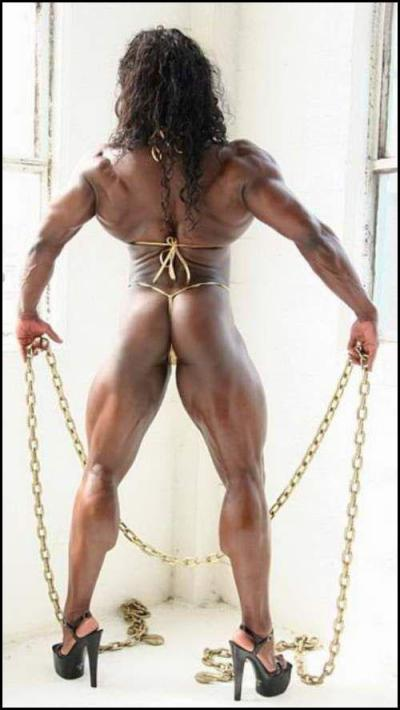 strong woman muscle bodybuilder